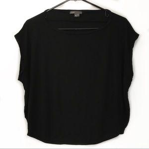 Vince flowy short sleeve shirt black EUC